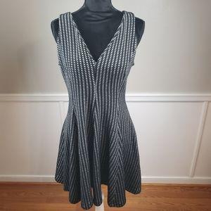 Zara Woman Black and White Dress